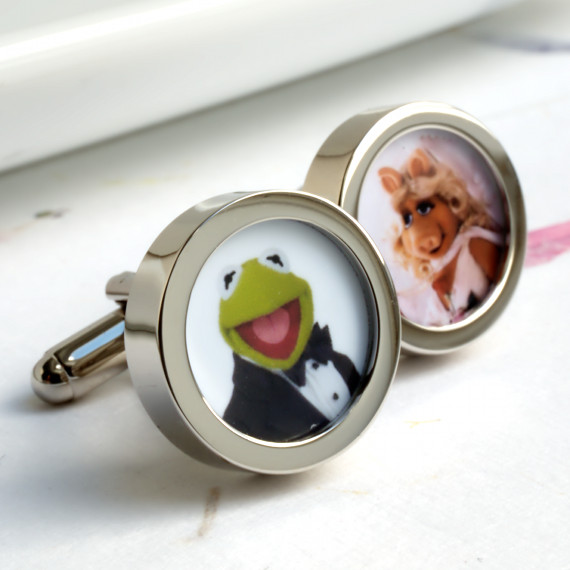 Kermit and Miss Piggy Get Married Cufflinks from the Muppet Show