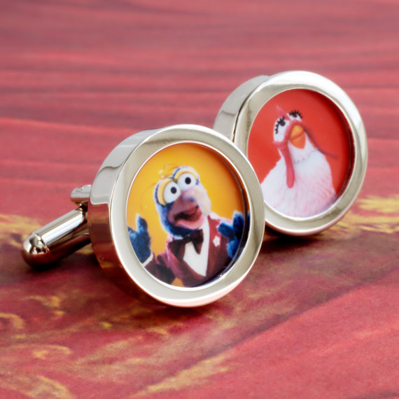 Gonzo and Camilla the Chicken Cufflinks from the Muppet Show