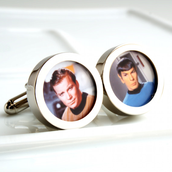 Star Trek Cufflinks with Original Star Trek Heroes Captain Kirk and Spock PC524