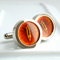 Eye of Sauron Cufflinks - the Infamous Eye from Lord of the Rings