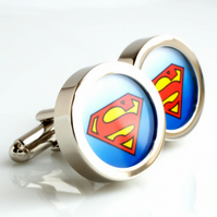 Superman Cufflinks - Comic Book and Movie Super Hero