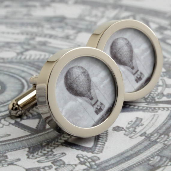 Hot Air Balloon Cufflinks Vintage Steampunk Style
