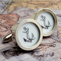 Anchor Cufflinks Nautical and Seaworthy Sailing Gift