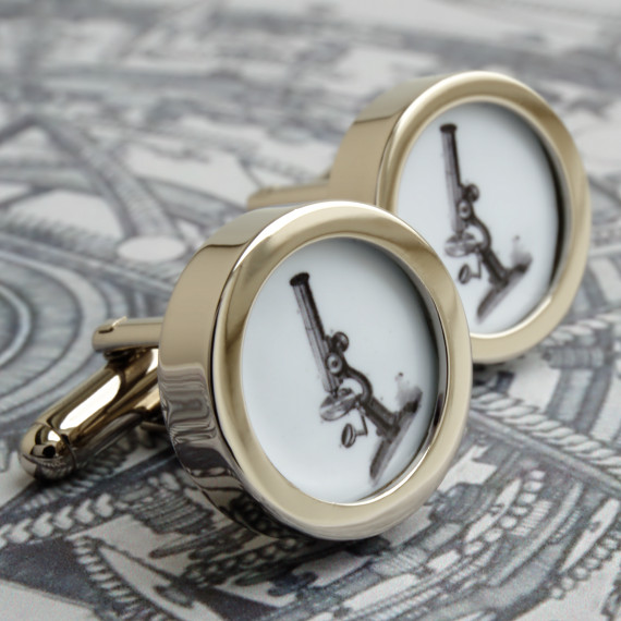 Vintage Microscope Cufflinks Victorian Science Accessories