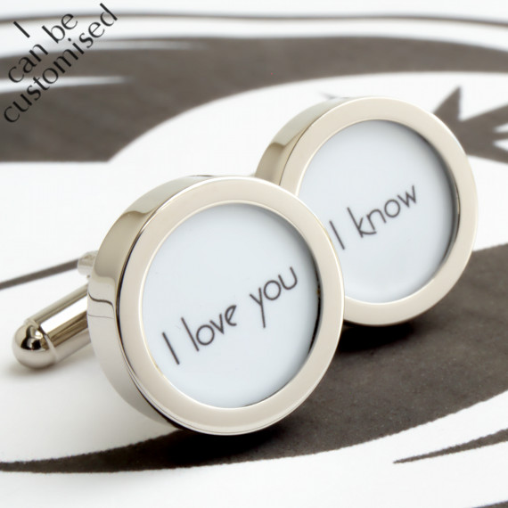 I Love You, I Know Star Wars Cufflinks for Grooms, Weddings and Romance