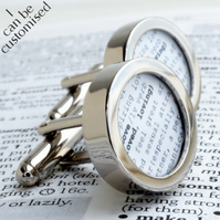 Dictionary Definition Custom Cufflinks - Love for Grooms, Weddings, Anniversary,