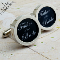Father of the Bride Cufflinks for Your Wedding Party