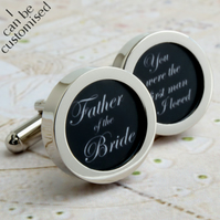 Father of the Bride Cufflinks, You Were the First Man I Loved - Wedding Party