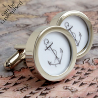 Anchor Cufflinks Nautical and Seaworthy