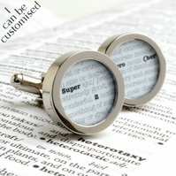 Super Hero Dictionary Cufflinks for the Super Hero in Your Life