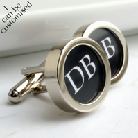 Monogrammed Cufflinks with 2 Initials