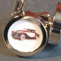 Sports Car Cufflinks Classic 1920s Vintage Sports Car Cufflinks