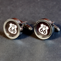 Route 66 Cufflinks America's Most Famous Highway