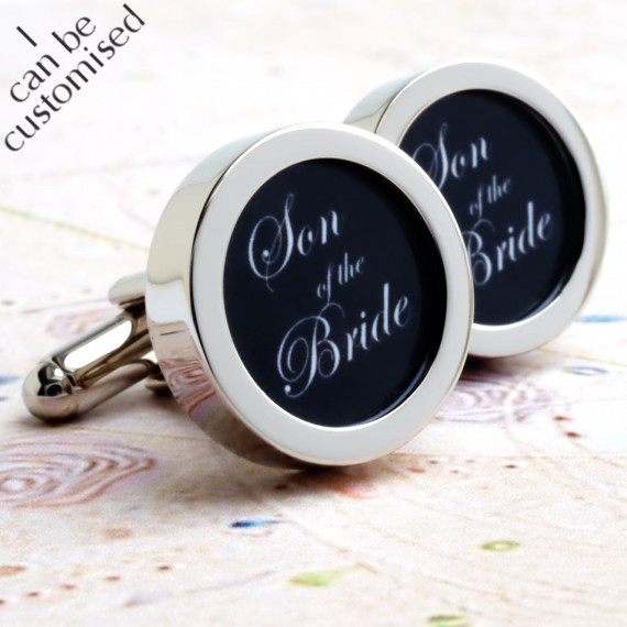 Son of the Bride Cufflinks for Your Wedding Party Groomsmen