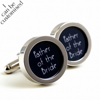 1920s Father of the Bride Cufflinks Art Deco Style for Weddings PC448