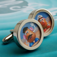 Toy Story Cufflinks Mr and Mrs Potato Head for all Fans of Toy Story
