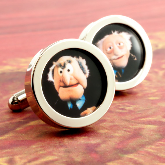 Statler and Waldorf Muppet Show Cufflinks - Those Grumpy Old Men We All Love