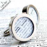 Personalised Dictionary Cufflinks - Love or choose a word meaningful to you