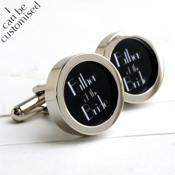 Father of the Bride Cufflinks 1920s Art Deco Style
