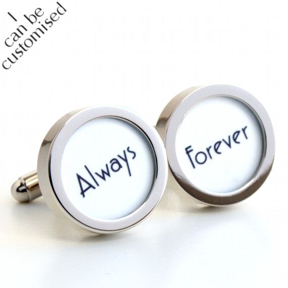 Always and Forever Cufflinks for Weddings and Special Someone in Art Deco 1920s