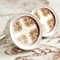 Thistle Cufflinks Art Nouveau Scottish Thistle Pattern