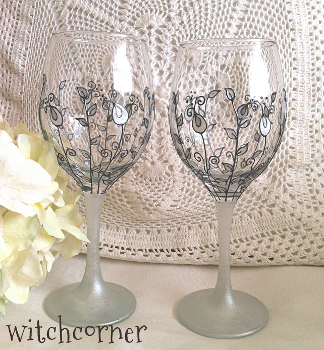 Painted Wedding Wine Gles Tips And Inspiration