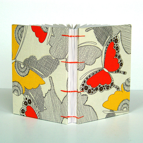 Butterfly Fabric Coptic Bound Journal