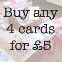 Buy 4 cards for £5