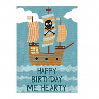 PIF Pirate Birthday Card