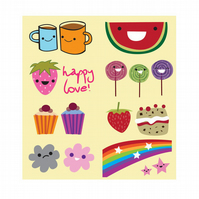 PIF 8 Cute Stickers