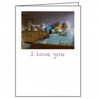 I Love You Dollhouse Greetings Card