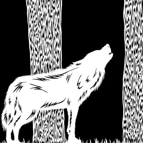 The Wolf - Hand pulled screen print