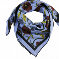 William Print Silk Scarf
