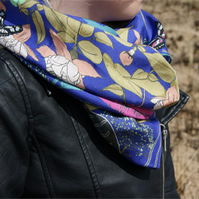 Butterfly Print Silk Scarf