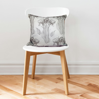 Iris Repeat Print Cushion