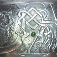 Pewter wedding gift couples initials