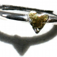 Heart stacking ring.
