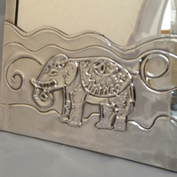 Elephant mirror. Personalized mirror.