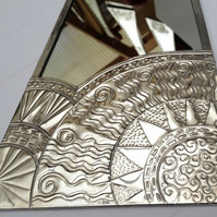 Art Deco sun mirror.