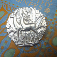 Art Deco Deer Brooch