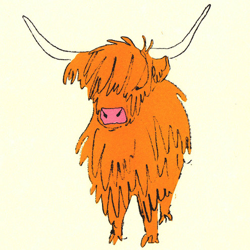 Highland Cow Silk Screen Print