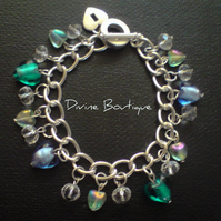 "RESERVED FOR MISS DAVIES Heart charm bracelet ""be mine"""