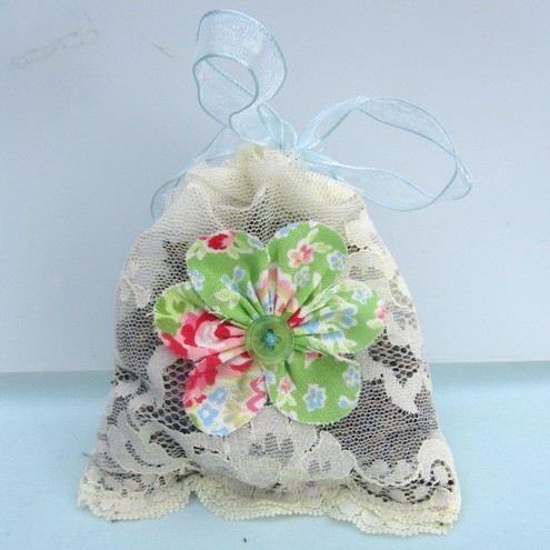 Lace lavender bag