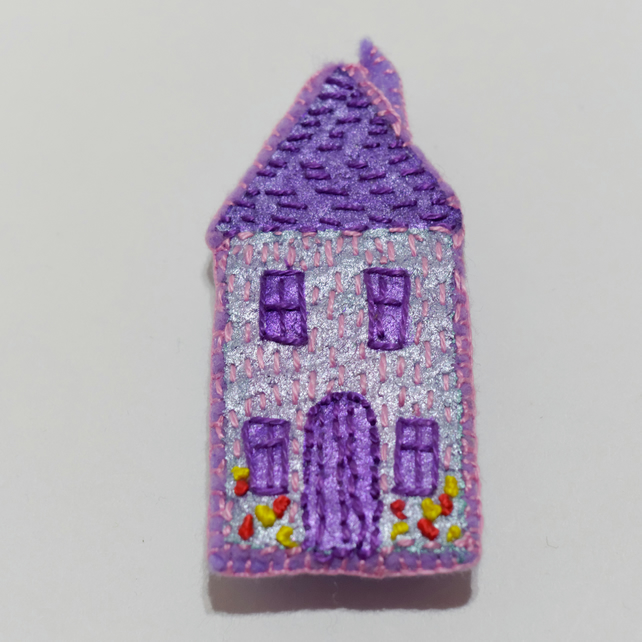 Embroiderd House Brooch