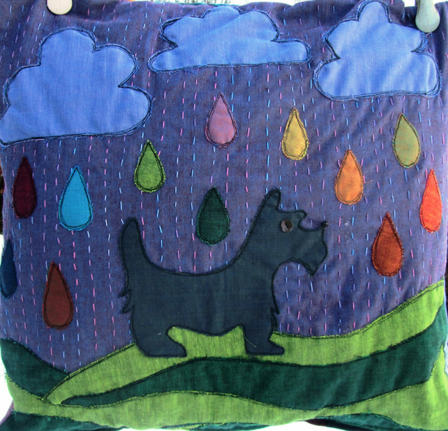 Scottie Dog in the Rain