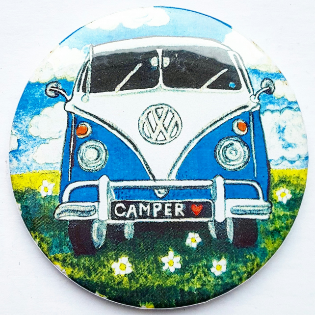 Camper Van Pocket Mirror