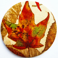 Autumnal Leaf Pocket Mirror