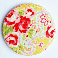 Flower Fabric Pocket Mirror