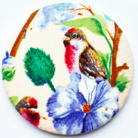 Bird Fabric Pocket Mirror