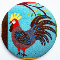 Hen Fabric Pocket Mirror